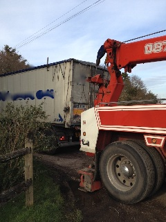 lorry recovered sussex lane