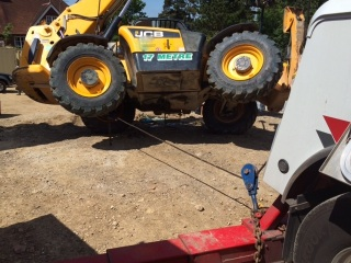 JCB telehandler righted by S and D commercials