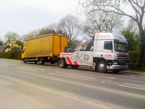 Lorry recovery in transit by S&D Commercials