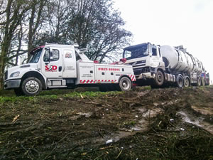 S&D Commercials recovery back to depot of milk lorry